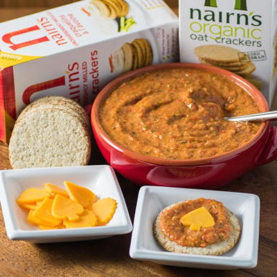 Healthy Roasted Red Pepper Dip