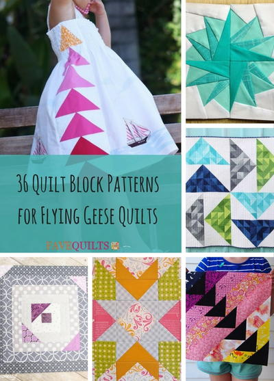 36 Quilt Block Patterns for Flying Geese Quilts | FaveQuilts.com : flying geese quilt block pattern - Adamdwight.com
