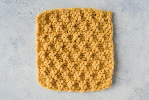 Simple Moss Stitch Dishcloth Allfreeknitting