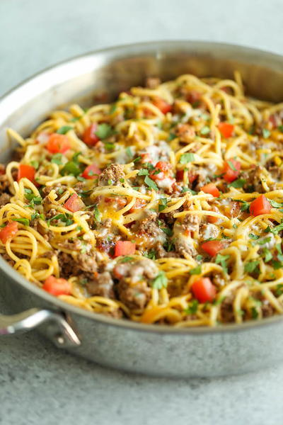 One-Pot Tex-Mex Spaghetti