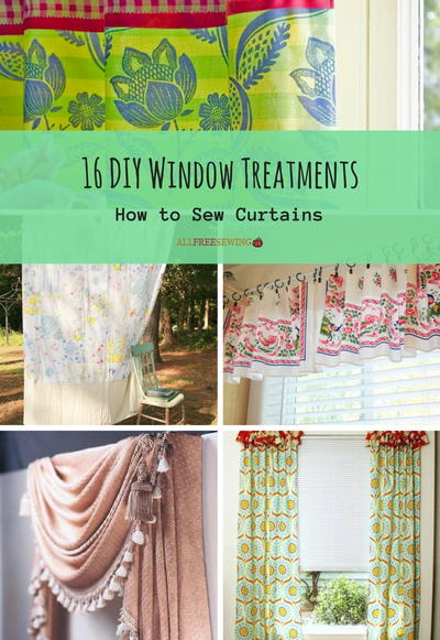 16 Diy Window Treatments How To Sew Curtains Allfreesewing