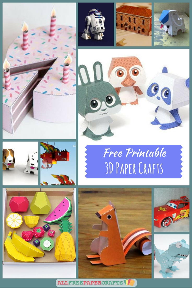 26+ free printable 3d paper crafts | allfreepapercrafts
