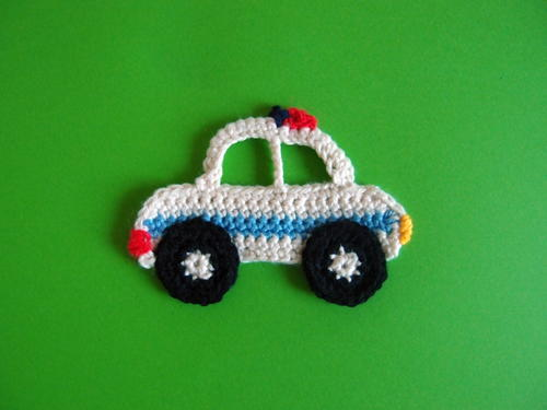 Police Car Applique Allfreecrochet