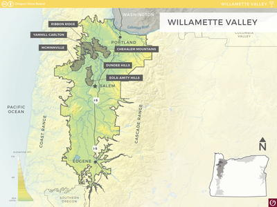 Oregon Wine Country Map