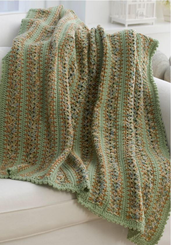 Country Cottage Crochet Throw