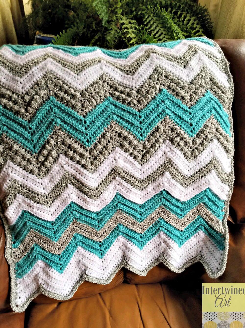 Tons Of Texture Chevron Baby Blanket Allfreecrochet Com