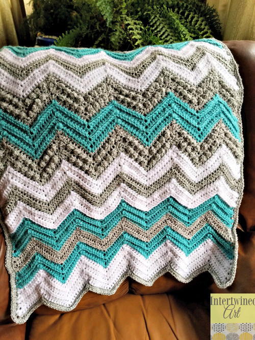 Tons Of Texture Chevron Baby Blanket Allfreecrochet