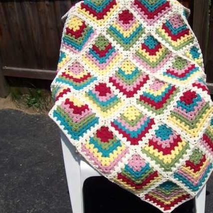 Must Have Mitered Granny Square Afghan