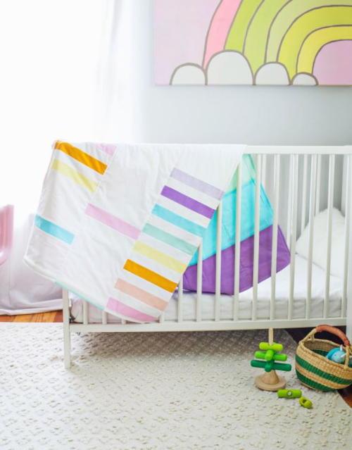 Modern Pastel Crib Quilt