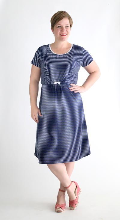 Nautical Tee Midi Dress Tutorial Allfreesewing