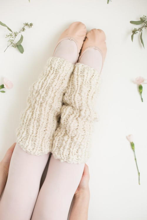 One Skein Knit Leg Warmers Allfreeknitting