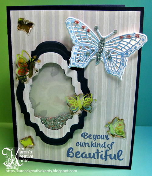 Beautiful Butterfly DIY Shaker Card