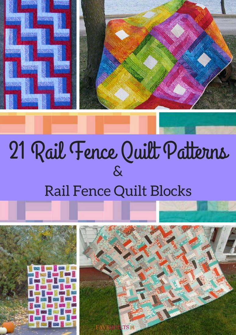 21 Rail Fence Quilt Patterns & Rail Fence Quilt Blocks ...