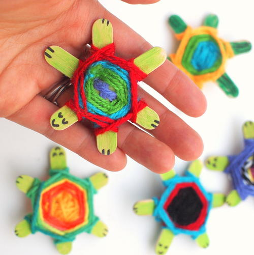 Weaving Baby Sea Turtle Craft
