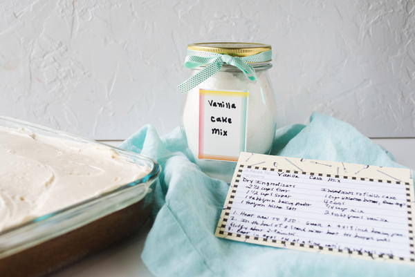 Homemade Vanilla Cake Mix Recipe