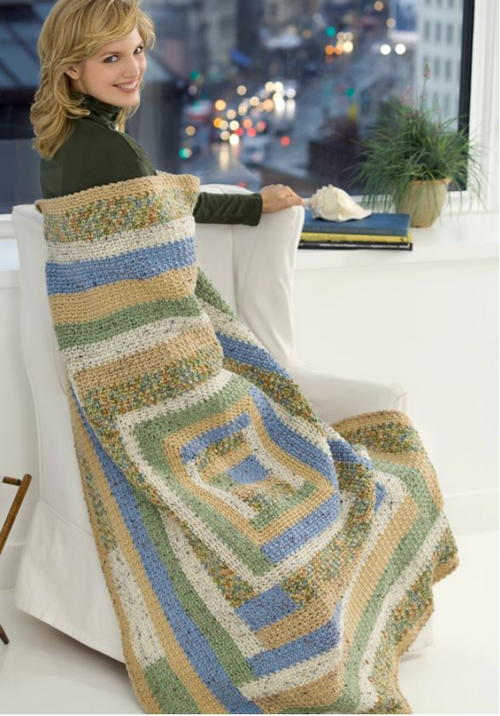 Quiet Country Garden Throw