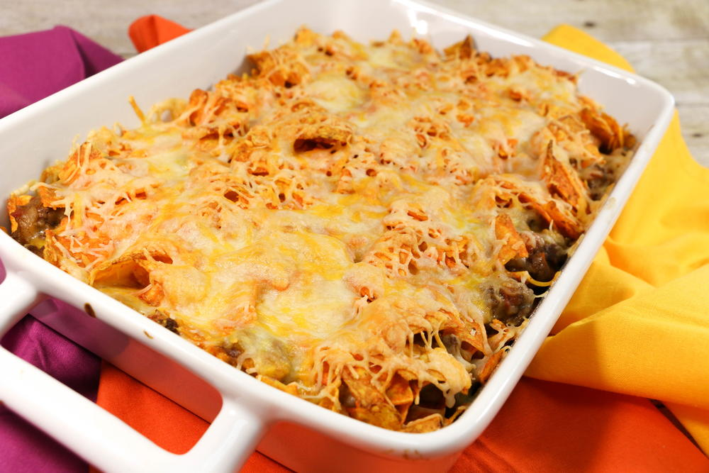 doritos casserole with ground beef allfreecasserolerecipes com