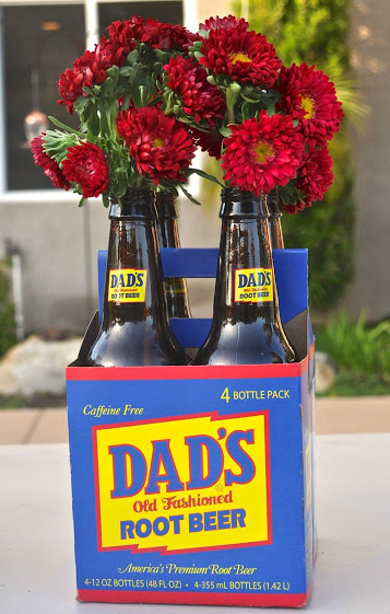 DIY Fathers Day Glass Bottle Centerpieces