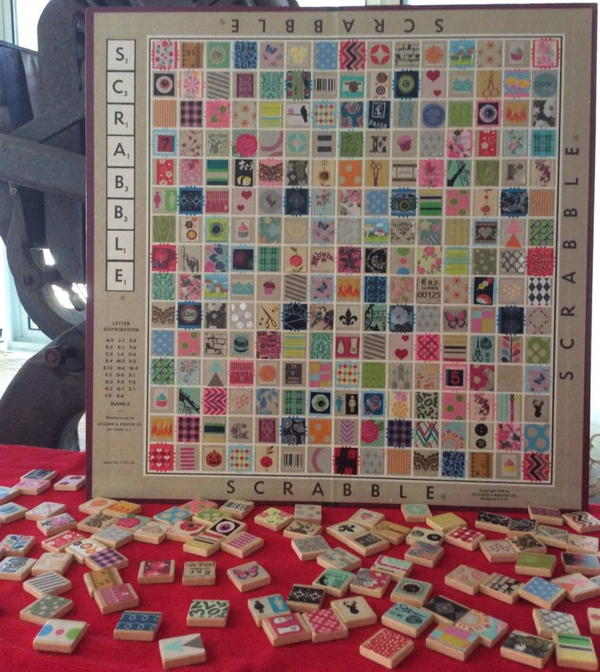 Turn Your Old Scrabble Board Into Art (Doubles as a Game!)