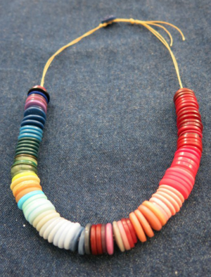 Colorful Ombre DIY Button Necklace