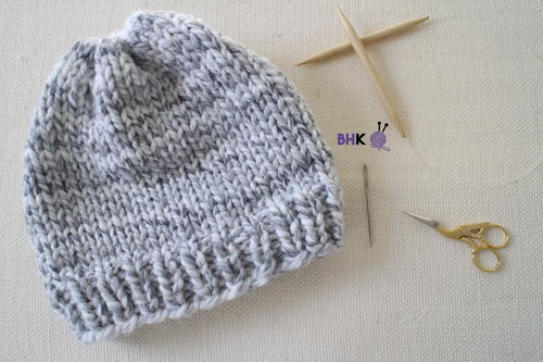 Easy Knit Hat for Beginners | AllFreeKnitting.com