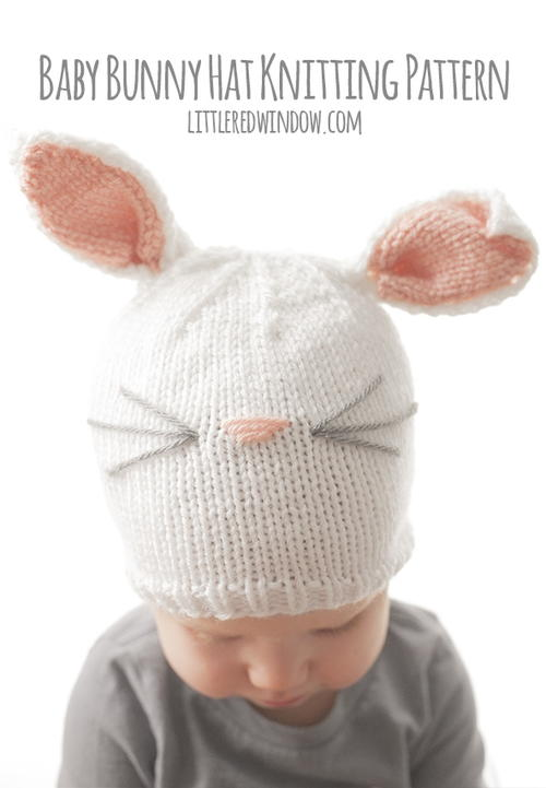 Baby Bunny Hat Knitting Pattern | AllFreeKnitting.com