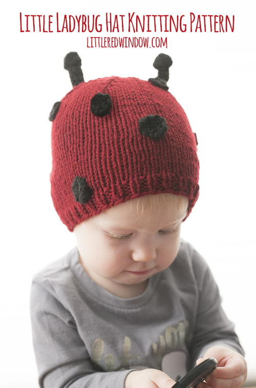 Little Ladybug Hat Knitting Pattern. By  Cassie May from littleredwindow.com 4d4005cbbef