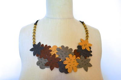 Designer-Inspired Faux Leather Necklace