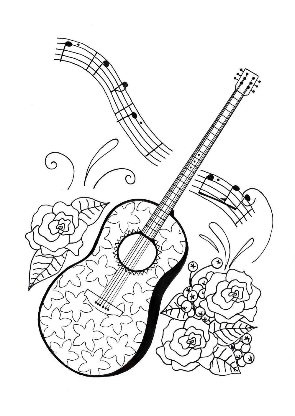 For the Love of Music Adult Coloring