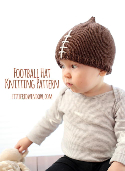 Football Hat Knitting Pattern Allfreeknitting