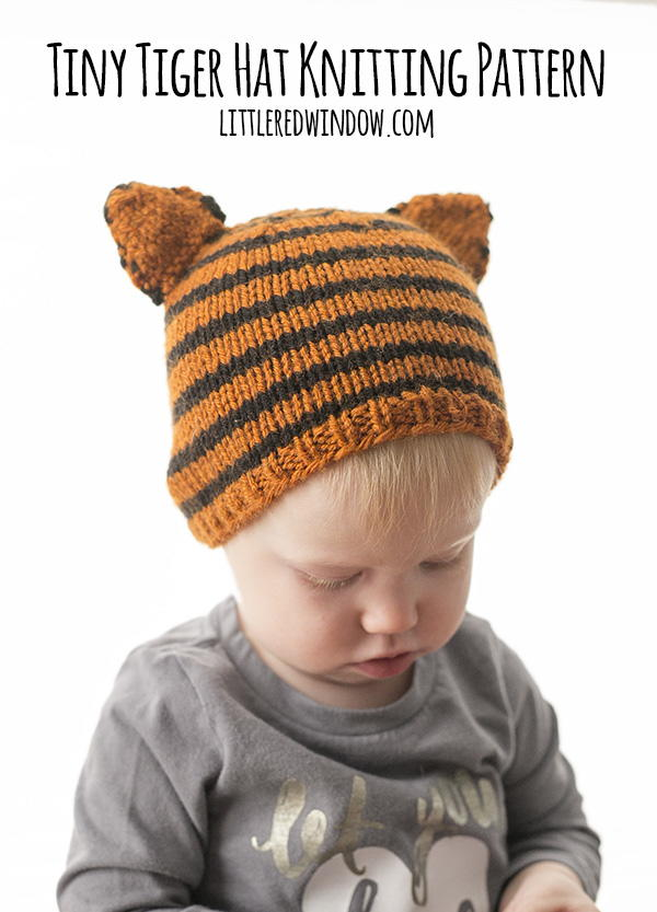 Tiny Tiger Hat Knitting Pattern | AllFreeKnitting.com