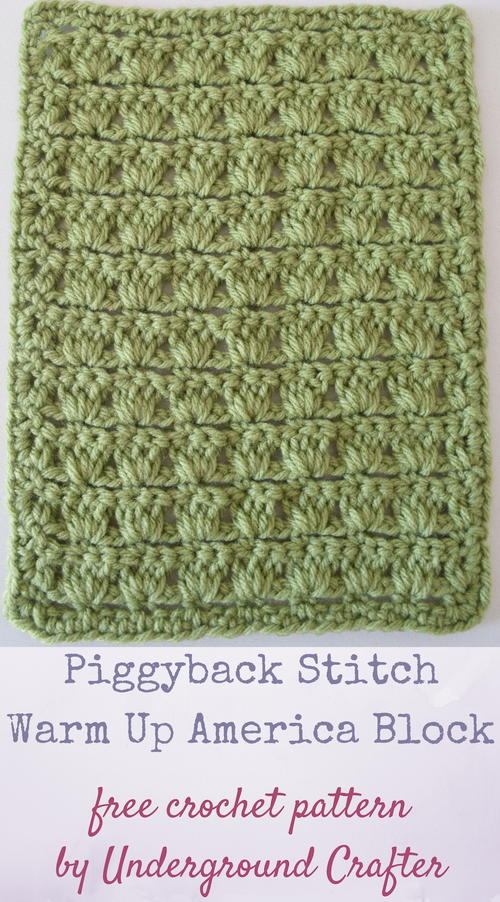 Piggyback Stitch Warm Up America Block