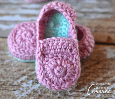 Darling Crochet Baby Loafers