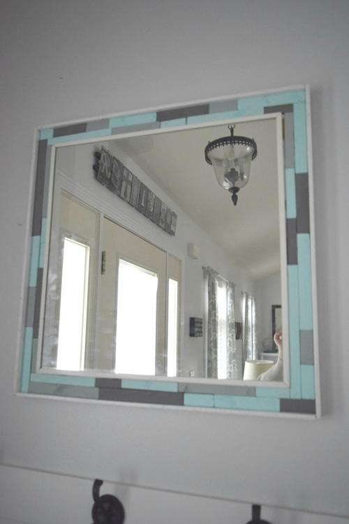 diy wood mirror frame. Perfect Mirror Upcycled DIY Wood Mirror Frame In Diy