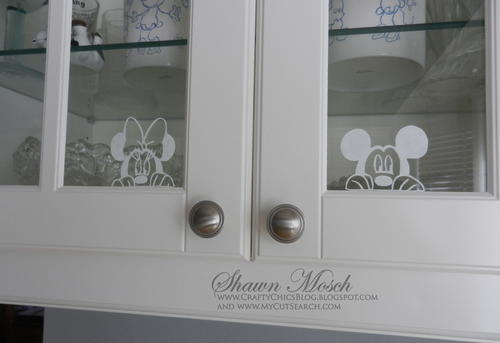 Minnie and Mickey Window Decals