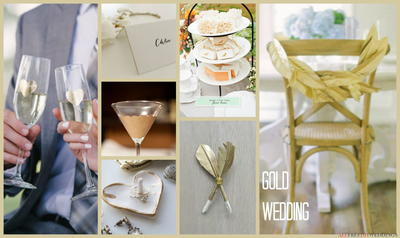 Wedding Colors Schemes: Gold