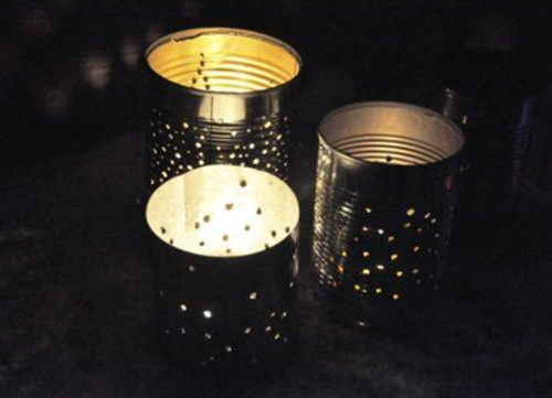 Tin Can DIY Lantern