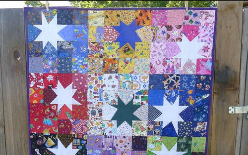 Scrappy Wonky Star Block Tutorial Favequilts