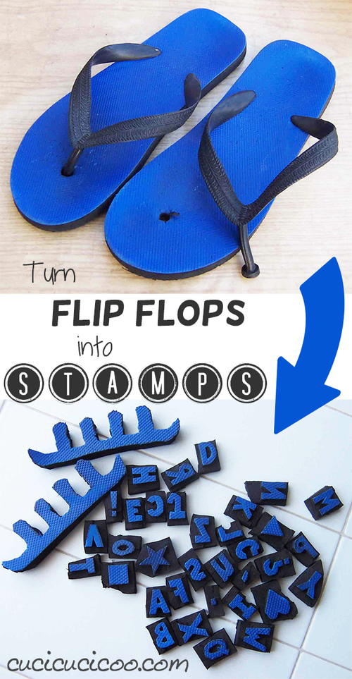 Turn Broken Flip Flops into DIY Stamps
