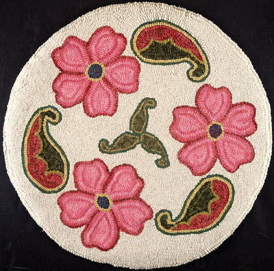 Paisley Blossoms Rug Hooking Pattern