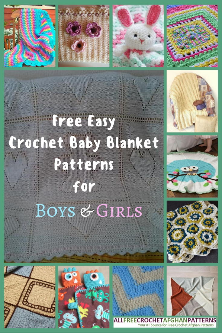 34 Free Easy Crochet Baby Blanket Patterns For Boys Girls