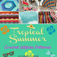 19 Tropical Summer Crochet Afghan Patterns