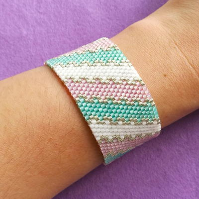 Pastel Waves Peyote Stitch Pattern