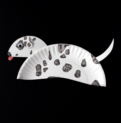 Playful Dalmatian Paper Plate Puppy Craft