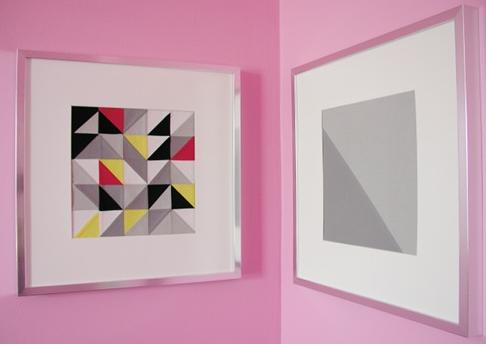 Modern Patchwork DIY Wall Art | FaveQuilts.com