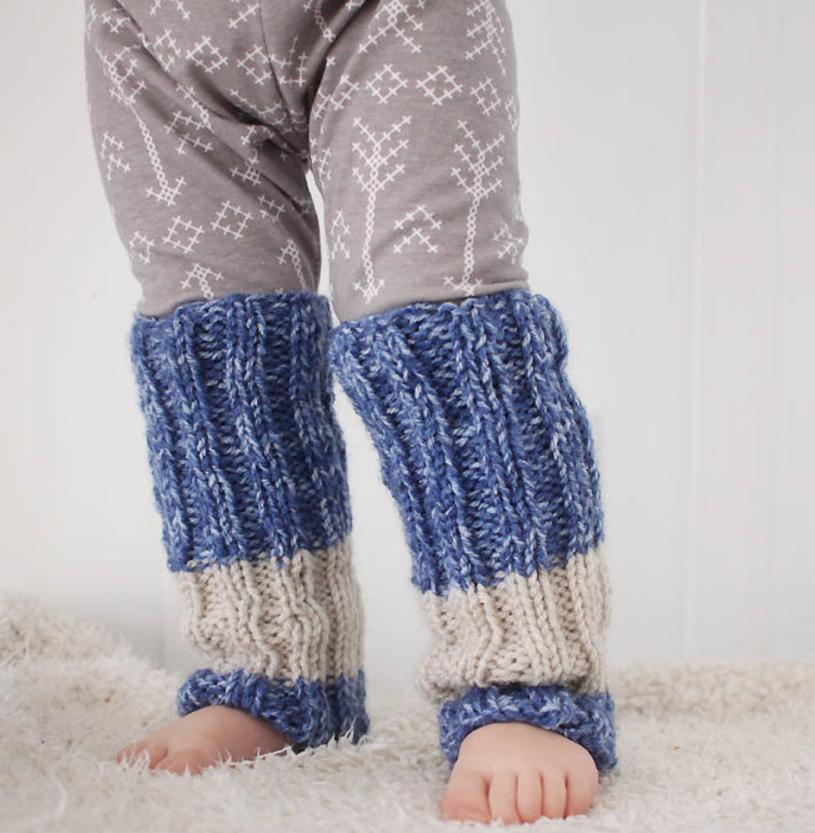 Totally Toddler Knit Leg Warmers | AllFreeKnitting.com