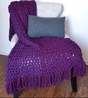 6-Hour Afghan with Fringe