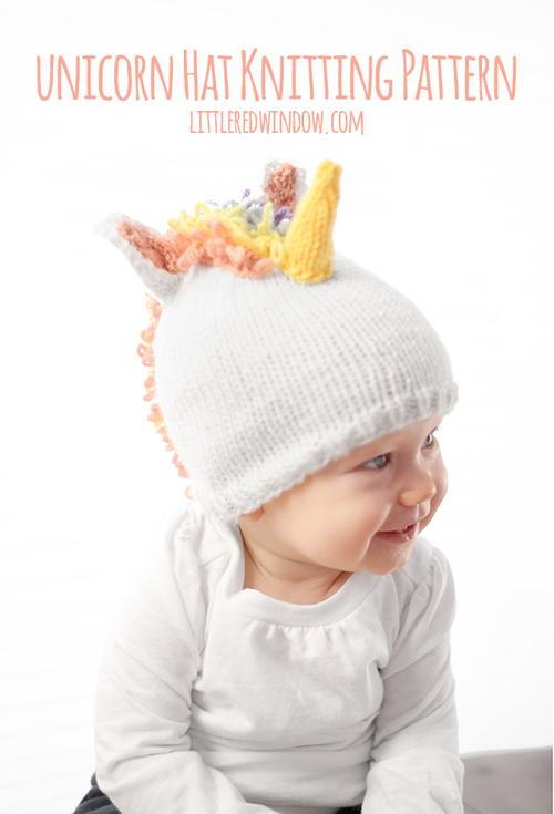Magical Unicorn Hat Allfreeknitting
