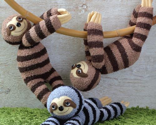 Sock Sloth Plushie Pattern | AllFreeSewing.com