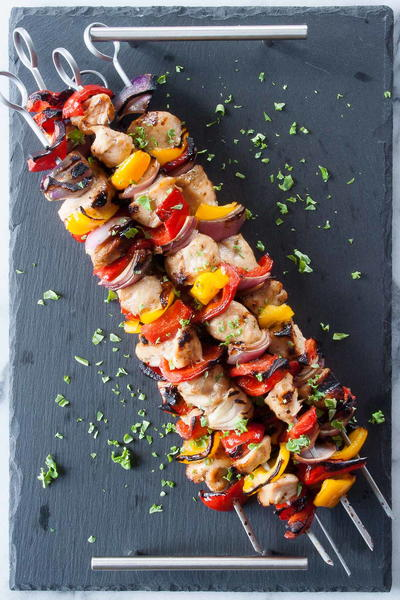 Simple Chicken and Veggie Kabobs